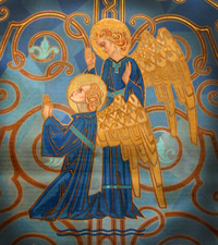 Angels painted at Holy Redeemer Church