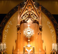 The newly renovated Adoration Chapel at Holy Redeemer